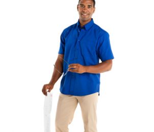 CHEMISE HOMME AIFOS - POLYESTER - COTON - 130 GR/M²