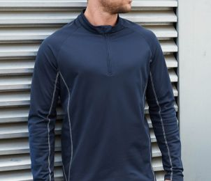 SWEAT RUNNING HOMME 1/4 ZIP - PA335 - POLYESTER - 170 GR/M²