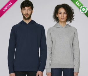 Sweat à capuche poches furtives unisexe ST807 100% coton bio • 280g/m²