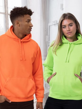 Sweat fluo à capuche - AD004 - personnalisable • 280g/m²